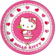 Papírtányér 8 db-os 19,5 cm Hello Kitty